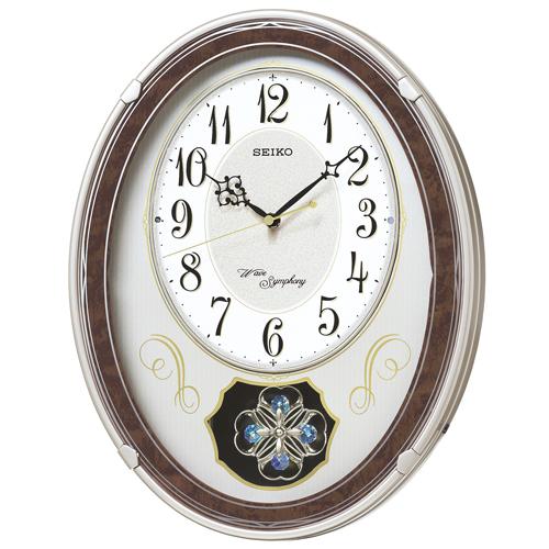 セイコー メロディー電波掛時計 SEIKOウェーブシンフォニー AM259B 文字入れ名入れ対応《有料》 取り寄せ品