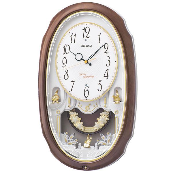 セイコーメロディ掛時計 電波時計 壁掛け時計 ウェーブシンフォニー AM260A