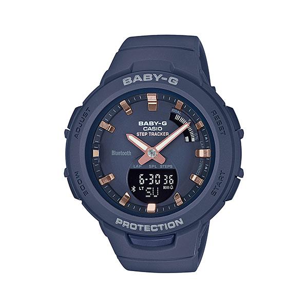スマホと連携 歩数計付き 女性用 腕時計 カシオ ベビーG BSA-B100-2AJF CASIO Baby-G デジアナ 国内正規品  取り寄せ品