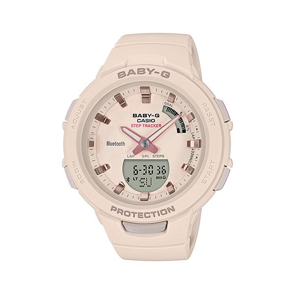 スマホと連携 歩数計付き 女性用 腕時計 カシオ ベビーG BSA-B100-4A1JF CASIO Baby-G デジアナ 国内正規品  取り寄せ品