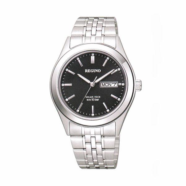 ソーラー時計 KM1-113-51 日・曜日付き デイデイトシチズン 男性用 腕時計 紳士用 レグノ