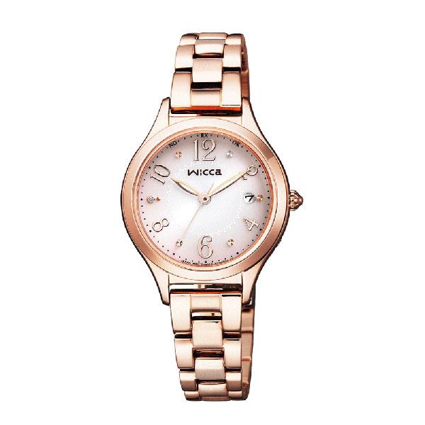 腕時計 レディース シチズン ソーラー電波時計 ウィッカ KS1-261-91 CITIZEN Wicca 取り寄せ品