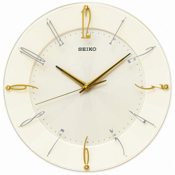 セイコー SEIKO 暗くなると秒針を止め 音がしない 壁掛け時計 電波時計 掛時計 KX214C スイープ 文字入れ対応、有料 取り寄せ品