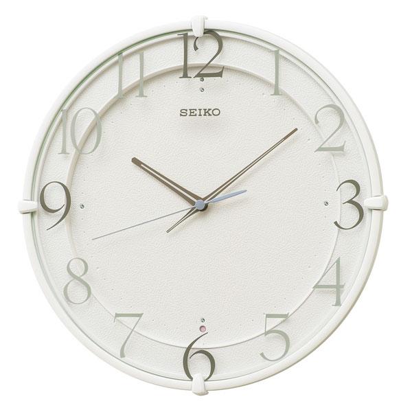 暗くなると秒針を止め 音がしない 壁掛け時計 電波時計 掛時計 KX215W セイコー SEIKO スイープ 文字入れ対応、有料