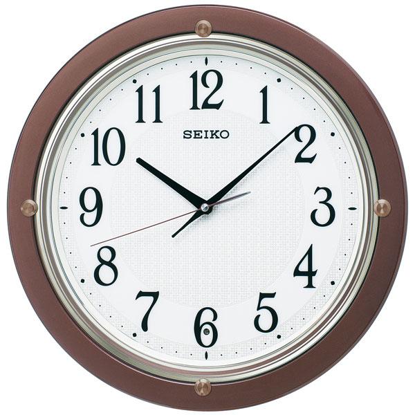 暗くなると秒針を止め 音がしない 壁掛け時計 KX217B 電波時計 掛時計 セイコー SEIKO 文字入れ対応、有料