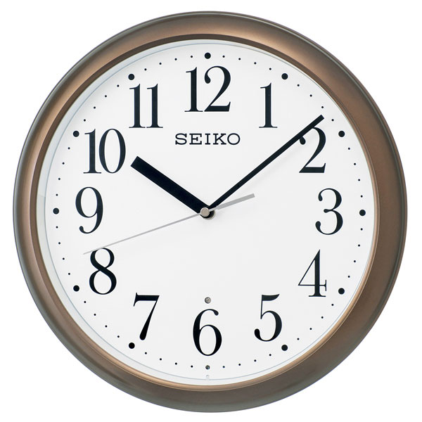 暗くなると秒針を止め 音がしない 壁掛け時計 KX218B 電波時計 掛時計 セイコー SEIKO 文字入れ対応、有料