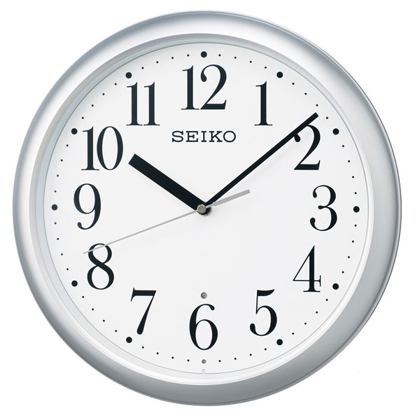 暗くなると秒針を止め 音がしない 壁掛け時計 KX218S 電波時計 掛時計 セイコー SEIKO 文字入れ対応、有料