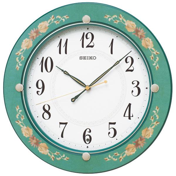 暗くなると秒針を止め 音がしない 壁掛け時計 KX220M 電波時計 掛時計 セイコー SEIKO 文字入れ対応、有料
