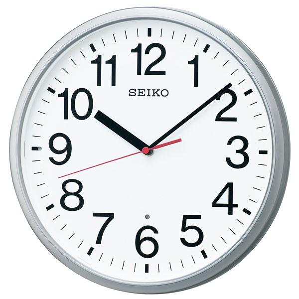 暗くなると秒針を止め 音がしない 壁掛け時計 KX230S 電波時計 掛時計 セイコー SEIKO 文字入れ対応、有料