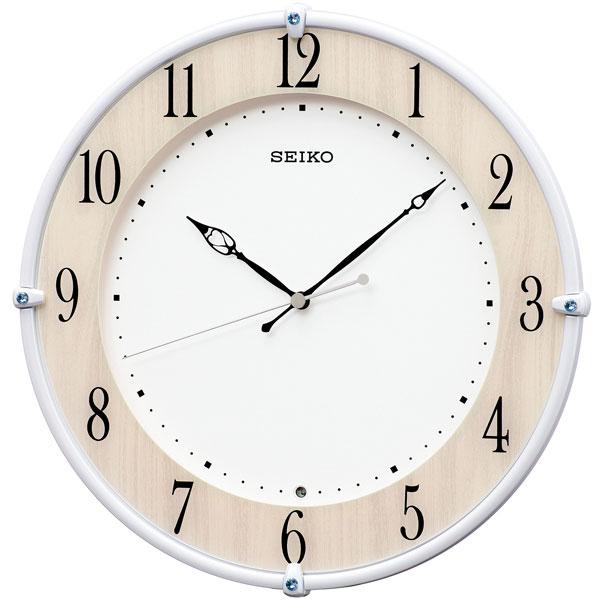 電波時計 壁掛け時計 KX242B スイープ 連続秒針 セイコー SEIKO プラスチック枠 【文字入れ対応、有料】