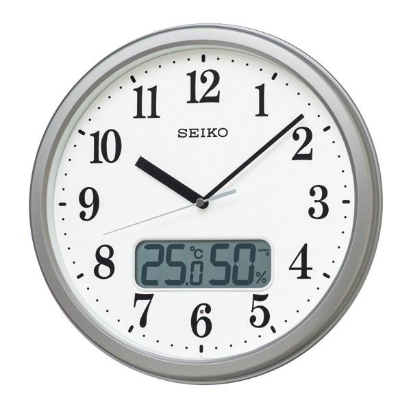 温度・湿度表示付き 電波時計 壁掛け時計 掛時計 KX244S セイコー SEIKO 文字入れ対応、有料