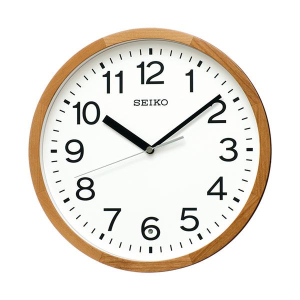 暗くなると秒針を止め 音がしない 壁掛け時計 KX249B 電波時計 セイコー SEIKO 文字入れ対応、有料 取り寄せ品