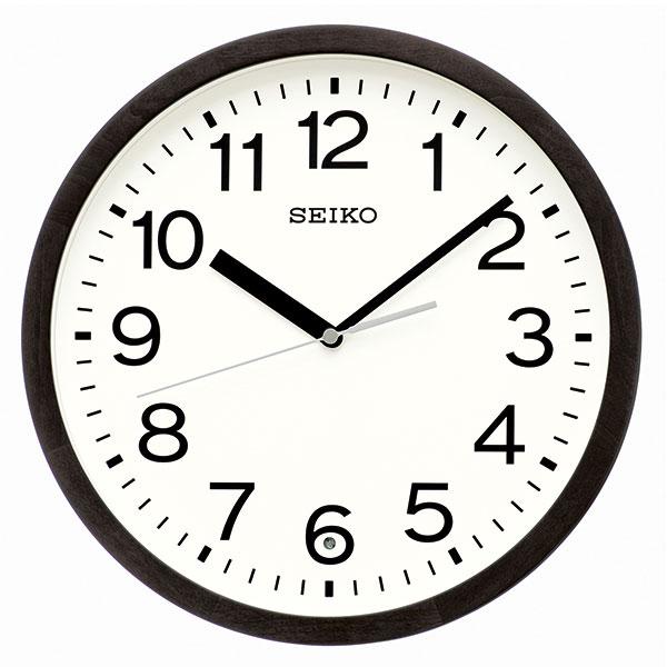 セイコー SEIKO 暗くなると秒針を止め 音がしない 壁掛け時計 KX249K 電波時計 文字入れ対応、有料 取り寄せ品