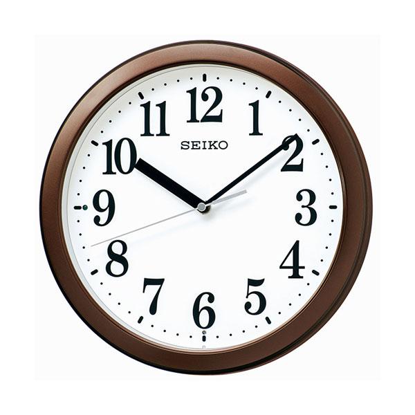 暗くなると秒針を止め 音がしない 小ぶり 壁掛け時計 KX256B 電波時計 セイコー SEIKO ガラス面のみ名入れ対応、有料