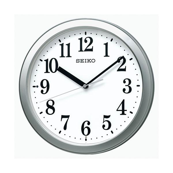 暗くなると秒針を止め 音がしない 小ぶり 壁掛け時計 KX256S 電波時計 セイコー SEIKO ガラス面のみ名入れ対応、有料