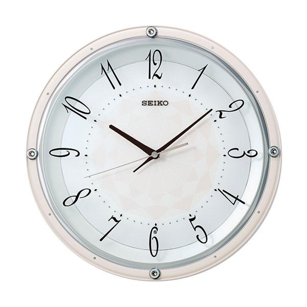 暗くなると秒針を止め 音がしない 壁掛け時計 KX257P 電波時計 セイコー SEIKO 文字書き対応、有料 取り寄せ品
