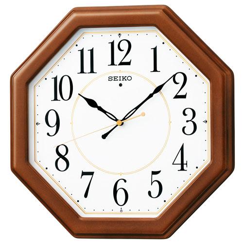 暗くなると秒針を止め 音がしない 壁掛け時計 掛時計 電波時計 KX389B セイコー SEIKO 文字入れ不可