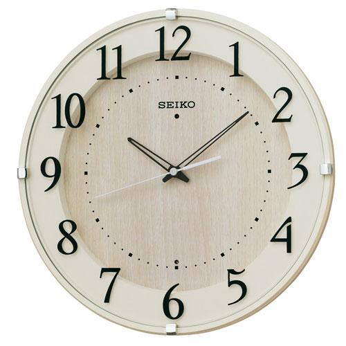 暗くなるとコチコチ音の静かな壁掛時計 掛け時計 電波時計 KX397A セイコー SEIKO 文字入れ対応、有料 取り寄せ品