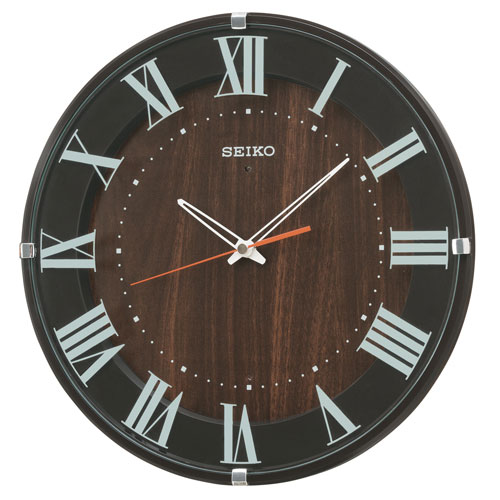 暗くなると秒針を止め 音がしない 壁掛時計 掛け時計 電波時計 KX397B セイコー SEIKO 文字入れ不可 取り寄せ品