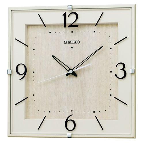 暗くなるとコチコチ音の静かな壁掛時計 掛け時計 電波時計 KX398A セイコー SEIKO 文字入れ対応、有料 取り寄せ品