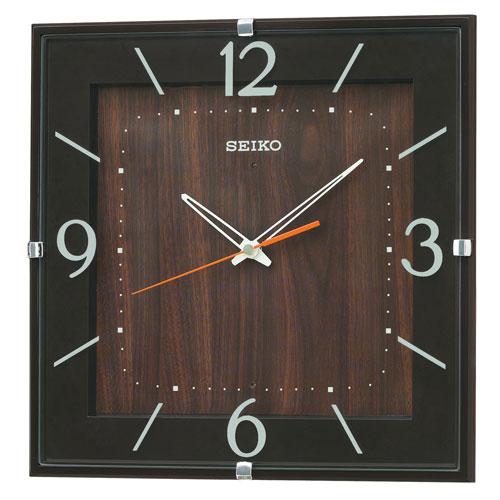 暗くなるとコチコチ音の静かな壁掛時計 掛け時計 電波時計 KX398B セイコー SEIKO 文字入れ対応、有料 取り寄せ品