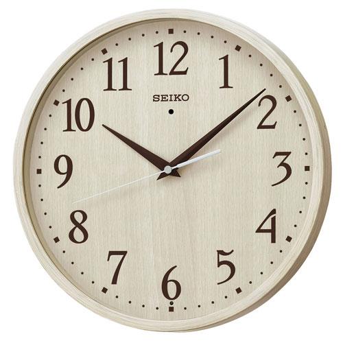 暗くなるとコチコチ音の静かな壁掛時計 掛け時計 電波時計 KX399A セイコー SEIKO 文字入れ不可