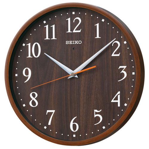 暗くなるとコチコチ音の静かな壁掛時計 掛け時計 電波時計 KX399B セイコー SEIKO 文字入れ不可 取り寄せ品