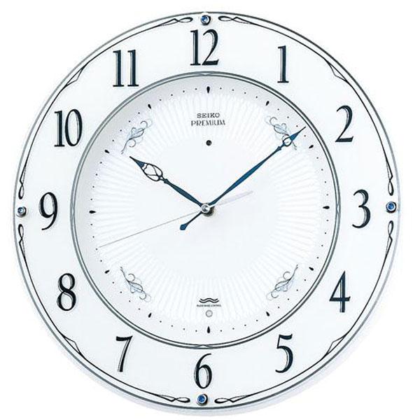 壁掛け時計 セイコー SEIKO 電波時計 暗くなると秒針を止め 音のしない スイープ LS230W 文字入れ対応、有料 取り寄せ品