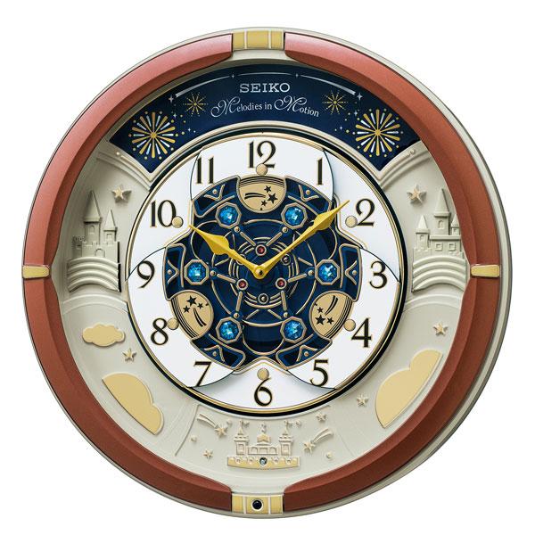 セイコー SEIKO からくり掛け時計 RE601B クオーツ時計 文字入れ対応、有料 取り寄せ品