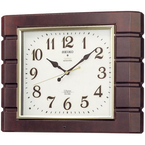 セイコーSEIKO 報時音つき電波時計  壁掛け時計 RX209B  文字入れ対応《有料》 取り寄せ品