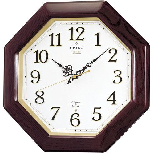 セイコーSEIKO 報時音つき電波時計  壁掛け時計RX210B 文字入れ対応、有料 取り寄せ品