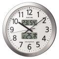 設定した時間にチャイムを鳴らす壁掛け時計 リズム 電波時計 4FN404SR19 文字入れ対応、有料 取り寄せ品
