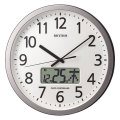 設定した時間にチャイムを鳴らす壁掛け時計 リズム 電波時計 4FN405SR19 文字入れ対応、有料 取り寄せ品