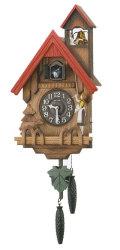 鳩時計 リズム RHYTHM 壁掛け時計 カッコーチロリアンR 4MJ732RH06 文字入れ対応《有料》 取り寄せ品