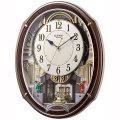 からくり時計 メロディ 電波時計 4MN545RH23 スモールワールドアルディ リズム RHYTHM 文字入れ対応、有料 取り寄せ品