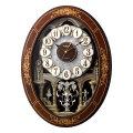 からくり時計 メロディ 電波時計 4MN546RH06 スモールワールドレガロ リズム RHYTHM 文字入れ対応、有料 取り寄せ品