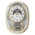 からくり時計 メロディ 電波時計 4MN551RH03 スモールワールドノエルS リズム RHYTHM 文字入れ対応、有料 取り寄せ品