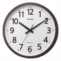 壁掛け時計 電波時計 4MYA38SR06 ステップ秒針 文字入れ対応、有料