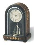 回転飾り 置き時計 リズム時計 RHYTHM 置時計 4SG786HG06 送料無料 文字入れ対応、有料 取り寄せ品