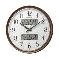 壁掛け時計 ライト付 温度湿度 カレンダー付 電波時計 8FYA04SR06 文字入れ対応、有料 取り寄せ品