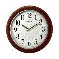 暗くなると秒針を止め 音がしない 壁掛け時計 電波時計 8MYA37-006 連続秒針 スイープ CITIZEN シチズン 文字入れ対応、有料 取り寄せ品
