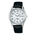 ALBA アルバ 腕時計 ソーラー 革バンド カレンダー付き AEFD543 メンズ 男性用 名入れ刻印対応、有料