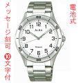 名入れ 時計 刻印10文字付 ALBA アルバ  男性用 腕時計 AQPK409 ルミブライト付 メンズウオッチ 父の日 還暦祝 ギフト プレゼント