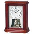 セイコー 電波時計 BY242B 置き時計 回転飾り付き SEIKO 文字名入れ対応、有料 送料無料 取り寄せ品