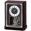 セイコー 電波時計 BY243B 置き時計 回転飾り付き SEIKO 文字名入れ対応、有料 送料無料 取り寄せ品