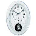 壁掛け時計 セイコー SEIKO メロディ 電波時計 エンブレム EMBLEM HS444W 文字入れ対応、有料 取り寄せ品