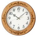 木象嵌 壁掛け時計 セイコー SEIKO 電波時計 エンブレム EMBLEM HS557A 文字入れ対応、有料 取り寄せ品