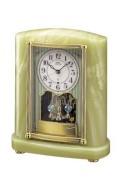 オニキス枠 置き時計 セイコー SEIKO エンブレム電波時計 EMBLEM HW521M 文字入れ対応《有料》 送料無料 取り寄せ品