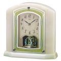 オニキス枠 置き時計 セイコー SEIKO エンブレム電波時計 EMBLEM HW579M 文字入れ対応《有料》 送料無料 取り寄せ品