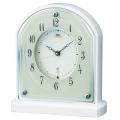 置き時計 セイコー SEIKO エンブレム電波時計 EMBLEM HW587W 文字入れ対応《有料》 送料無料 取り寄せ品